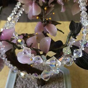 Antique Aurora Borcalis chocker necklace